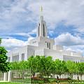 Lds Draper Temple by Brett Engle