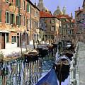 Le Barche Sul Canale by Guido Borelli