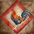 Le Coq - Timeless Rooster  by Audrey Jeanne Roberts