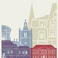 Le Havre Skyline Poster by Pablo Romero