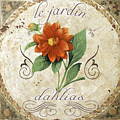 Le Jardin Dahlias by Mindy Sommers