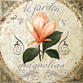 Le Jardin Magnolias by Mindy Sommers