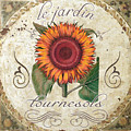 Le Jardin Tournesols  by Mindy Sommers