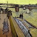 Le Pont De Trinquetaille In Arles by Vincent Van Gogh
