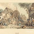 Le Repas Des Moissonneurs by Jean-fran?ois Janinet After Pierre Alexandre Wille