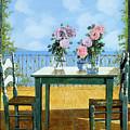 Le Rose E Il Balcone by Guido Borelli