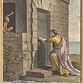Le Thesauriseur Et La Singe (the Miser And The Monkey) by Pierre Francois Martenasie After Jean-baptiste Oudry