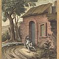 Le Vieux Chat Et La Jeune Souris (the Old Catand The Young Mouse) by Johann Christoph Teucher After Jean-baptiste Oudry