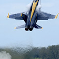 Lead Solo Pilot Of The Blue Angels by Stocktrek Images