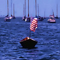 Leader Of The Pack- Bristol Rhode Island Oil Effect by Tom Prendergast