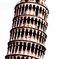Leaning Tower Of Pisa  Sepia Digital Art by Merton Allen