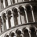 Leaning Tower Pisa Closeup by Songquan Deng