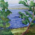 Leaning Tree By Lake Sacandaga by Bethany Lee