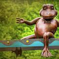 Leaping Frog In Boston  by Carol Japp