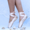 Learning To Walk In Dance World With Pink Pointe Shoes by Pedro Cardona Llambias