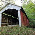 Leatherwood Station Covered Bridge Indiana by Steve Gass