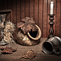 Leaves and Vessels by Candlelight by Tom Mc Nemar