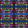 Leaves Batik Tiled by Sue Duda