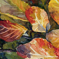 Leaves On A Pond by Elissa Poma