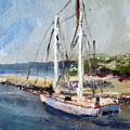 Leaving Sesuit Harbor by Michael Helfen
