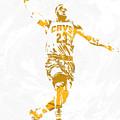 Lebron James Cleveland Cavaliers Pixel Art 12 by Joe Hamilton