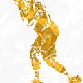 Lebron James Cleveland Cavaliers Pixel Art 13 by Joe Hamilton
