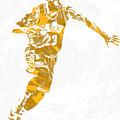 Lebron James Cleveland Cavaliers Pixel Art 14 by Joe Hamilton