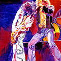 Led Zeppelin - Page And  Plant by David Lloyd Glover