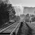 Leeds Railroad Station And Tracks by Michael Thomas