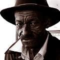 Legendary Bluesman And Folk Artist James Son Thomas by David Thompson