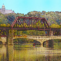Lehigh River - Easton Pa by Bill Cannon