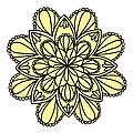 Lemon Lily Mandala by Isabella Howard