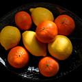 Lemons And Oranges On A Platter by Ludmila SHUMILOVA