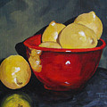 Lemons And Red Bowl IIi by Torrie Smiley