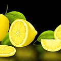 Lemons-black by Veronica Minozzi