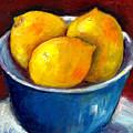 Lemons In A Blue Bowl Grace Venditti Montreal Art by Grace Venditti