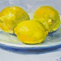 Lemons On A White Plate by Susan Jenkins