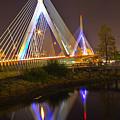 Leonard P. Zakim Bunker Hill Bridge Reflection by Michael Tidwell