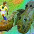 Leonidas And Soccer Shoes by Caito Junqueira