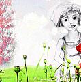 Leora In Her Garden by Ginette Callaway