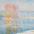 Les Glacons. Bennecourt by Claude Monet