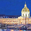 Les Invalides In The Evening by Digital Photographic Arts