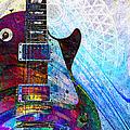 Les Paul Guitar 3 by Kiki Art