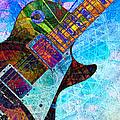 Les Paul Guitar 5 by Kiki Art