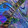 Les Paul Guitar 7 by Kiki Art