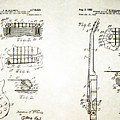 Les Paul Guitar Patent 1955 by Bill Cannon