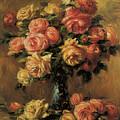 Les Roses Dans Un Vase by Pierre-Auguste Renoir