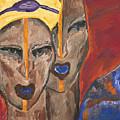 Les Visages I by Bernadette Robertson
