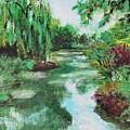 L'etang De Claude Monet, Giverny, France by CE Dill
