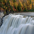 Letchworth Falls Sp Middle Falls by Dean Hueber